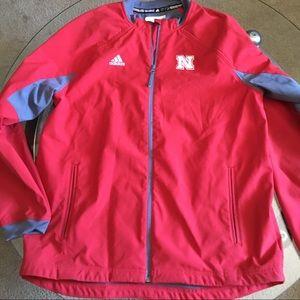 Adidas Nebraska Full Zip Jacket Men's XL